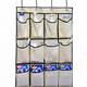 Premium quality 24 pockets door hanging shoe organizer storage bag