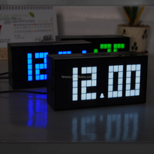 Cheap hot selling rectangle digital table smart clock and led clock for decorative