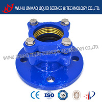 direct manufacturer ductile iron PE strained flange adaptor