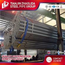 ISO 9001 certificate galvanized erw pipes/tubing for structure used for construction