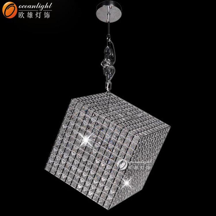 Crystal size changed square chandelier pendant light,OM55003