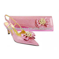 2013 new italian women designer shoes with matching bags for party
