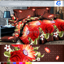 romantic pattern 3d bedding sets in rose design wholesale