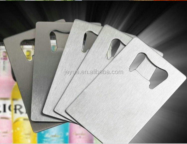 2017 Competitive Price metal bottle opener business card for promotion