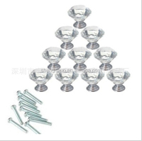 10Pcs/Lot 30mm Clear Crystal Glass Kitchen Cabinet Knobs Handles Dresser Cupboard Door Knob Pulls Hardware Screw