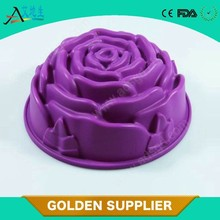 New item hot sale food grade silicone rose cake mold