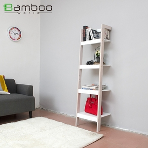 Library Book Shelf Divider Child Bookcase Study Room Bookshelf Bamboo And Mdf