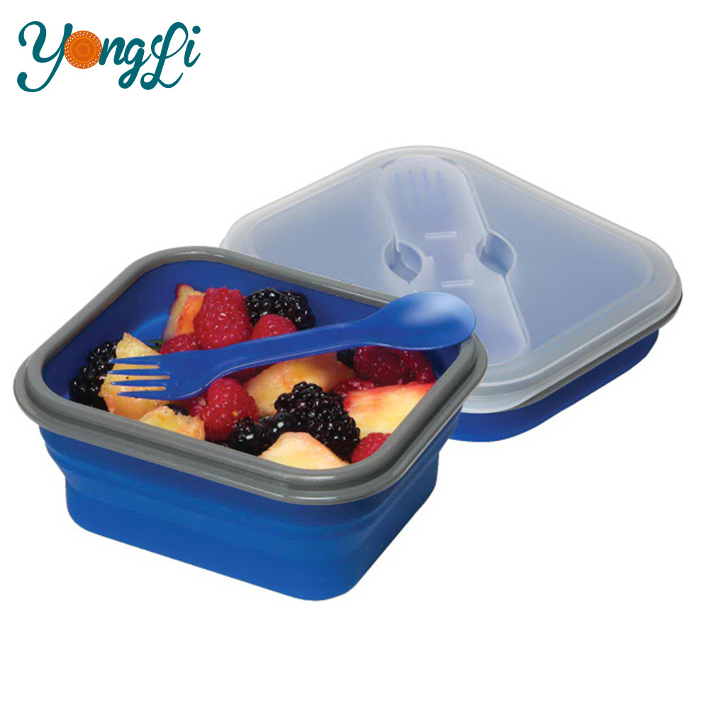 Eco Friendly Bento Lunch Box Food Grade Silicone Containers