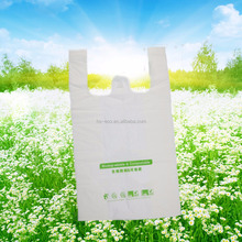 GUARANTEED LOWEST PRICE! 100% biodegradable plastic t shirt shopping bags wholesale