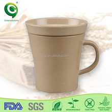 eco friendly rice husk organic customized angel wings coffee cup mug