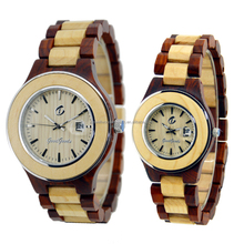 China supplier wholesale Luxury Bewell or OEM Stainless Steel bezel Lovers Wrist Wood Watch
