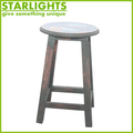 round tall chair with wood legs