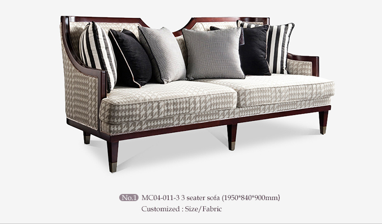 Customize middle east living room set furniture set , soild Wooden furniture set living room set
