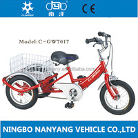"GW7017 12"" single speed cargo baby tricycle with 3 wheels for sale"