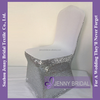 C386A Spandex Sequin Decoration Wedding Chair