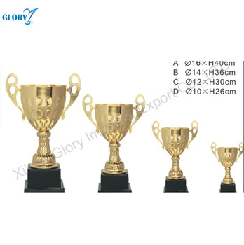 Gold Plated Loving Cup Metal Trophy for Champion Honor Prizes