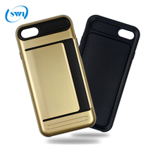 New Style TPU+PC Combo Card Cover For iPhone 5 5s 5c 6 6s 6plus,Mobile Phone Card Case For iPhone 6