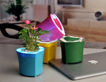 heart shaped silicone flower pot,colorful silicone led pen holder,beautiful silicone flower pot