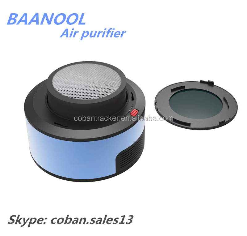 Mini car air cleaner for car AP-101with Silent Fan & Charcoal Filter, Anion HEPA Air Purifier with Wifi control
