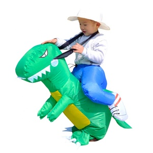 Christmas Party Kids Dinosaur Costume T-Rex Ride Walling Costume For Child Halloween