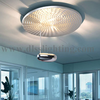 led ring metal ceiling light for meeting room