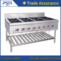 Stainless steel cheap restaurant equipment gas stove