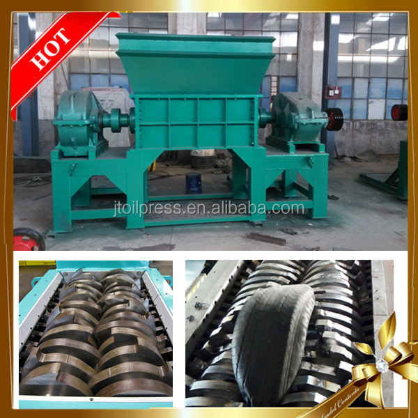 Australia automatic double shaft shredder plastic rubber recycling small aluminum can crusher machine