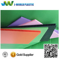 Best-selling 2mm 3mm 4mm 5mm 6mm 7mm pp plastic hollow corrugated sheet
