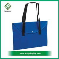 blue tote non-woven file pocket