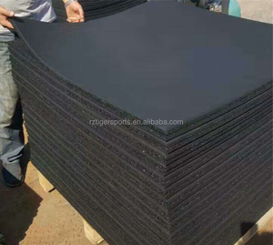 Rizhao Tiger Sports black rubber flooring for gym rubber mat