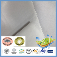 210cm Width waterproof 100% polyester pu white knitted fabric