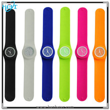Custom OEM available interchangeable watch head and colorful silicone strap slap watch
