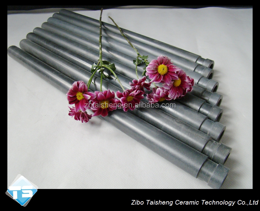 High Quality Gas Pressed Sintered Ceramic Si3N4 Thermocouple protection Tube Low Die Casting