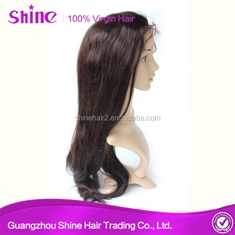 Top quality natural baby hair silky straight made in america wigs