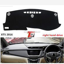 Right hand drive Polyester Fiber anti slip Dustproof Car Dashboard Cover for Cadillac ATS SRX XTS