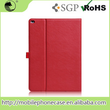 "Newest Wholesale 12.9"" RED PU Leather Card Holder Flip Case Cover Pouch For ipad pro Tablet Case"