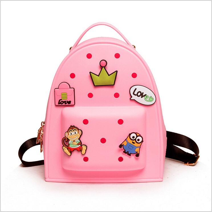 2016 Wholesale new design jelly custom silicone school backpack