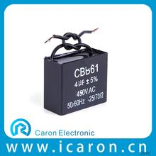 hotsale ceiling fan capacitor 3 wire square shape