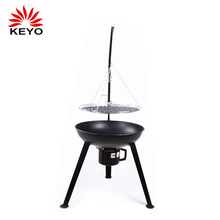 KEYO Factory hanging tripod BBQ grill garden treasures fire pit with one ash tray