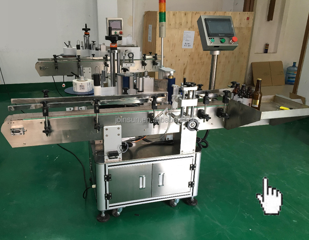 automatic labeling applicator for glass bottle with printer