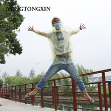 Top selling disposable wholesale transparent waterproof PE plastic rain coat