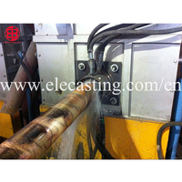 horizontal continuous casting machine for brass rod production line