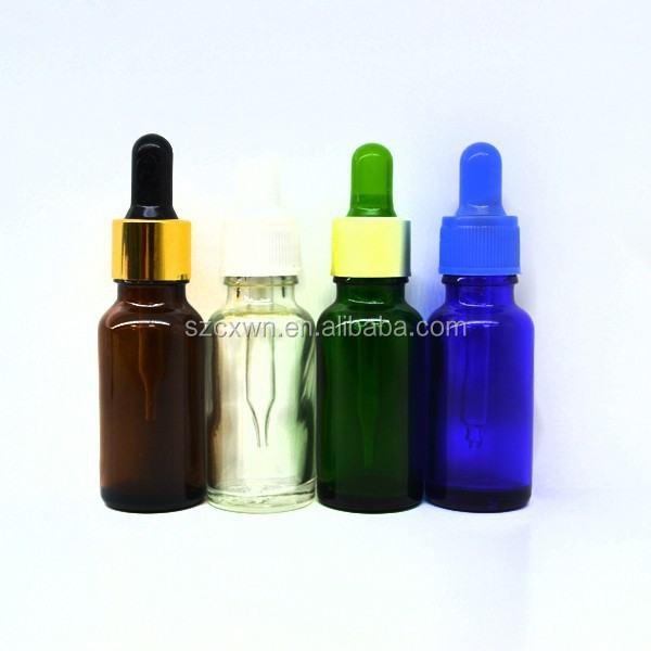 glass perfume bottle china/childproof and tamper ring dropper 30ml e-cig oil bottles /blue glass