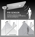 PIR motion sensor solar lithium battery Solar street light all in one price
