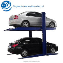Used Home Garage 2 level Hydraulic 2 Post Car Parking Lift