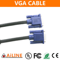AiLINE High Quality 3+6 Male to Male Wiring Diagram 10 meter vga cable