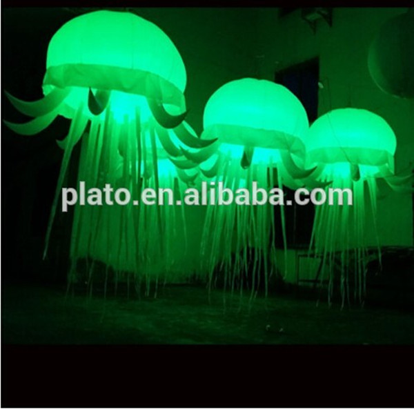 Charming Colorful LED lighting inflatable jellyfish balloon ,Inflatable Hanging Jellyfish For Sale