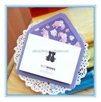 custom printed wedding invitation card presentation card message card