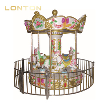 Indoor & Outdoor Mini Horse Carousel Ride Used for Theme Park