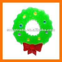 Reusable adhesive toy christmas window gel cling